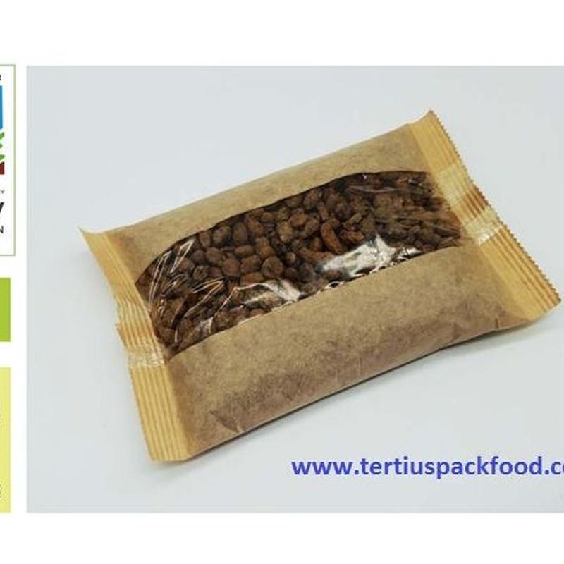 Envasado  bolsa conformada  de propileno  y papel con atmosfera mofdificada: NUESTROS  ENVASADOS de Envasados de Alimentos Bio y Gourmet, S.L