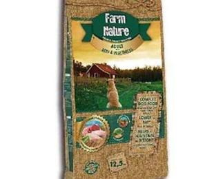 Farm nature buey y verduras