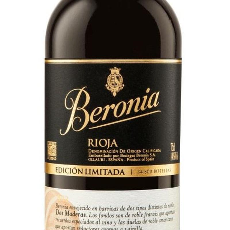 Tinto Beronia Edición Limitada: Nuestra Carta de Restaurante Coto do Rano
