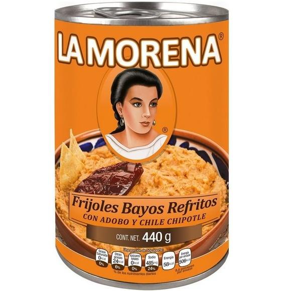 Frijol bayo refrito con adobo y chile chiplote La Morena : PRODUCTOS de La Cabaña 5 continentes