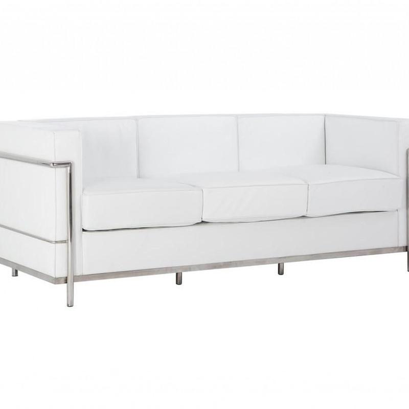 Variedades de sillones. Sofá Miró triplaza blanco: Productos de Constan
