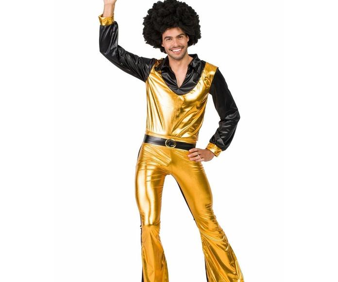 Disfraz disco amarillo hombre