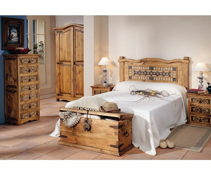 Dormitorio rústico: Productos de Muebles Seseña