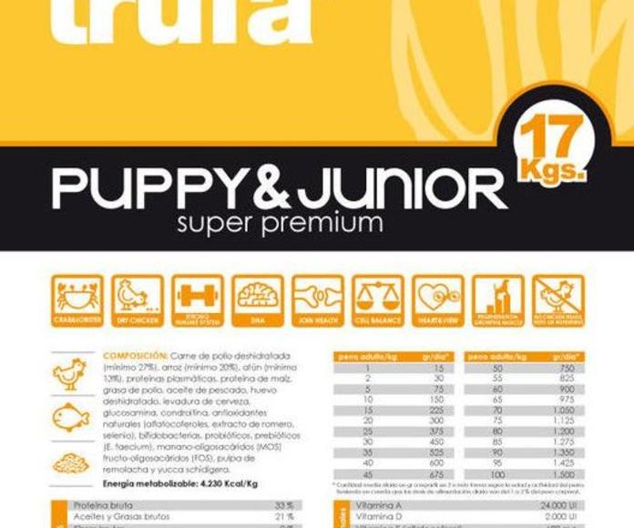 LA TRUFA PUPPY y JUNIOR 17 kg  45.75 euros