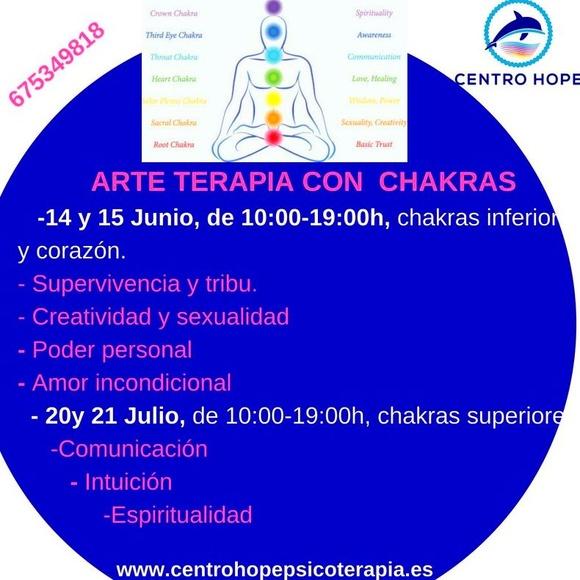 Curso intensivo de Arteterapia y los chakras. Centro Hope