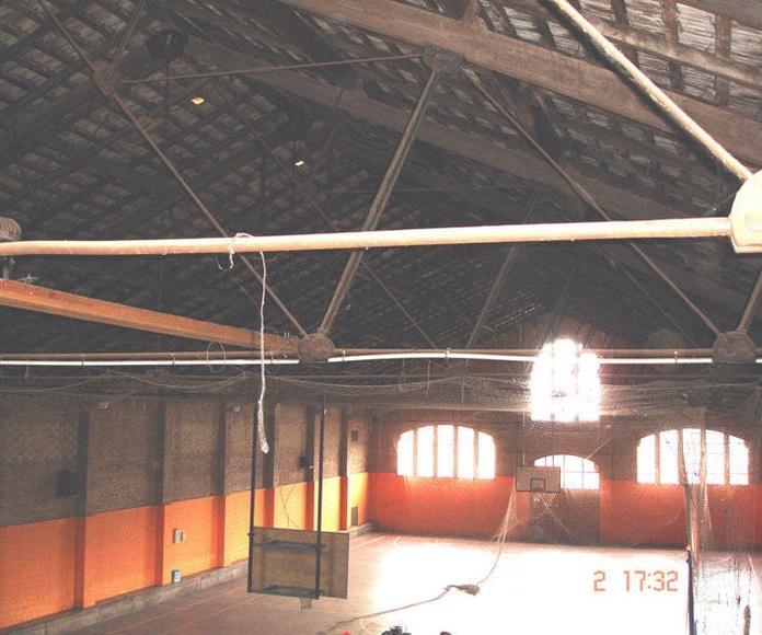 Ay. de Celrà. Palau Municipal d'Esports. Remodelación de la Cubierta. Girona