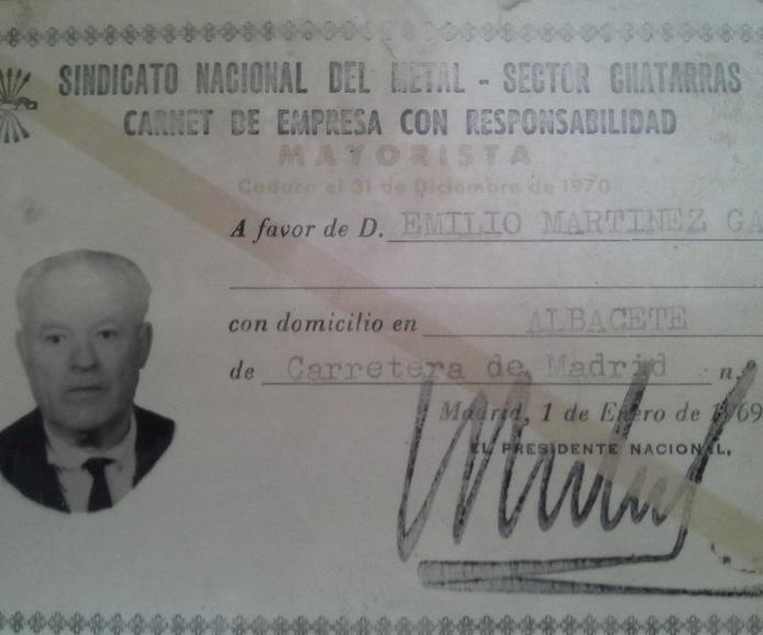 Emilio Martinez Garcia. Fundador de Chatarras Clemente