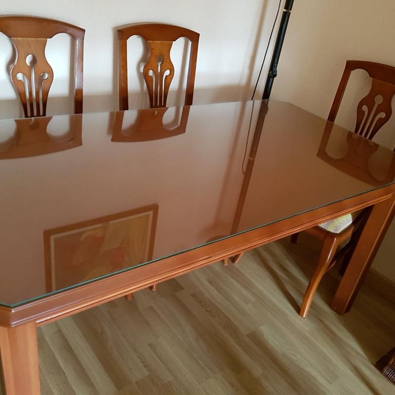Tapas de cristal para mesas
