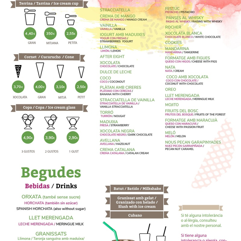 Carta Còrcega 2020: Nuestros productos de Brina, S.L.