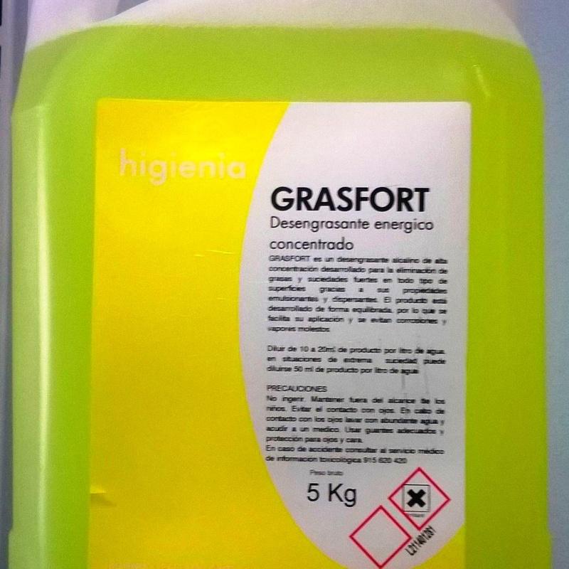 DESENGRASANTE GRASFORT 5L. : SERVICIOS  Y PRODUCTOS de Neteges Louzado, S.L.
