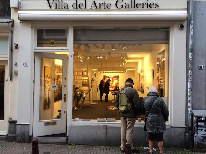 Galería de arte contemporáneo en Het Spiegelkwartier de Ámsterdam