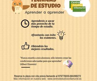 PRIMARIA: Oferta educativa  de Centro de Estudios Villamuriel
