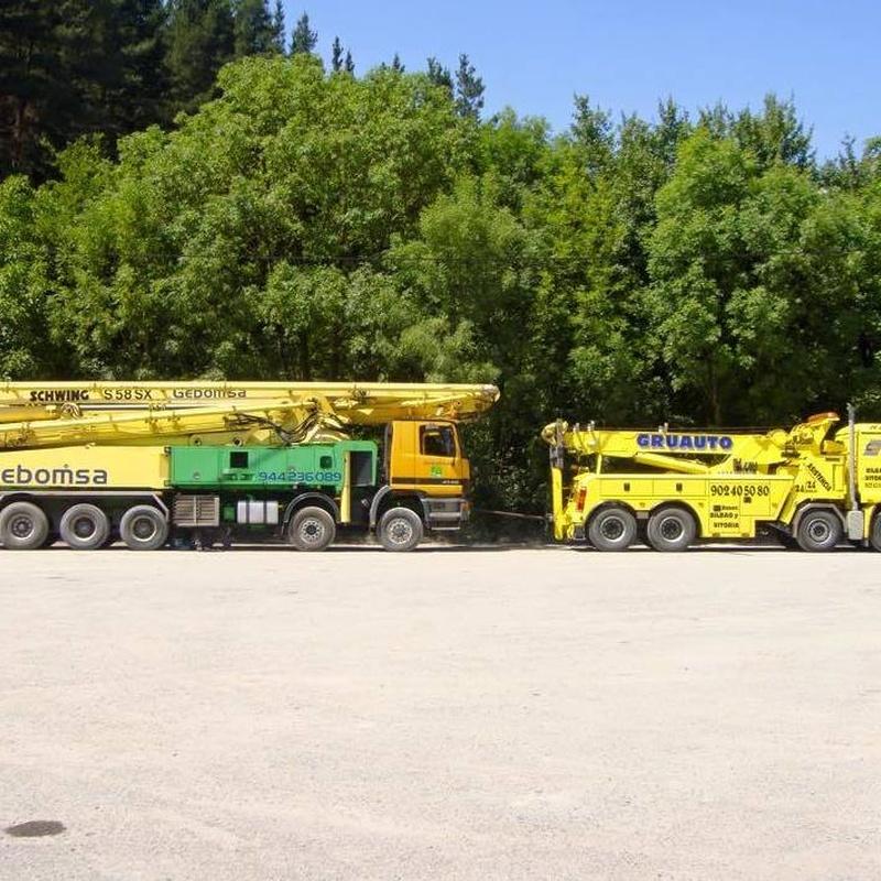 Gruauto Asistencia e Irastorza tiene gruas para camiones de cualquier tipo.