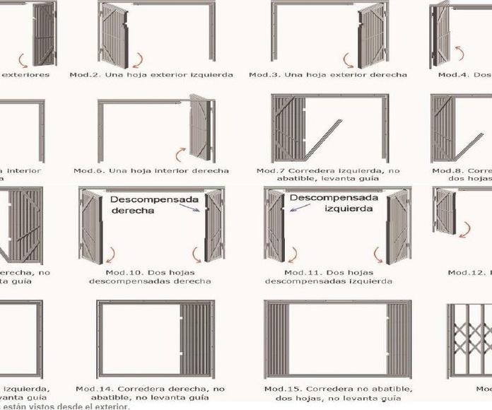 Modelos de aperturas de rejas extensibles