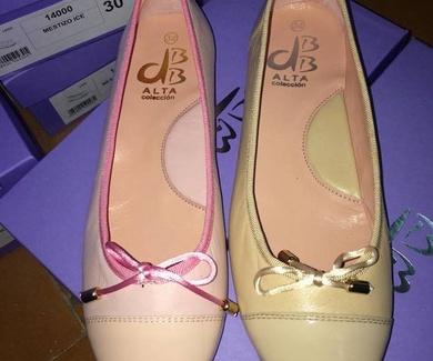 Manoletinas dbb en rosa y crema