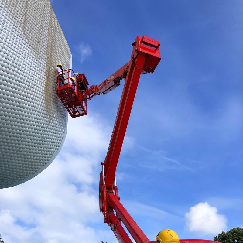 Instalación de redes protección centro botín santander