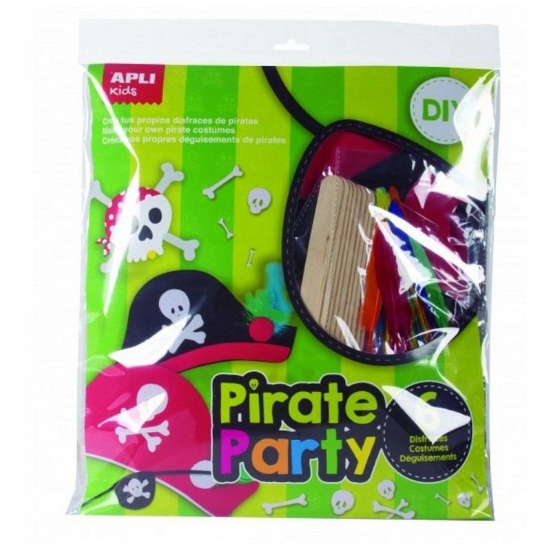 Pirata party. Set de 6 disfraces. Apli 15017.  8410782150176