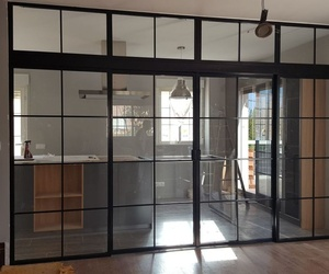 Puertas correderas de hierro estilo industrial
