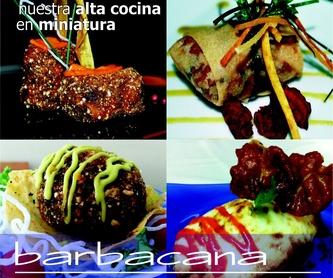 Catering: Nuestra carta de Barbacana