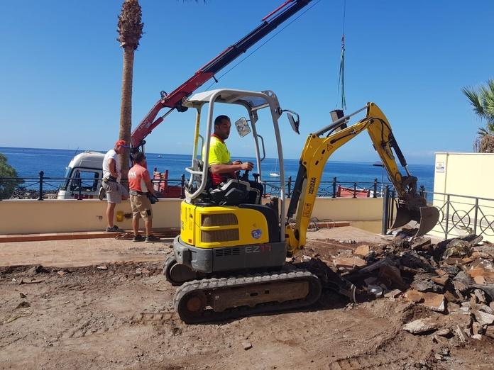 Excavación piscina en los Cristianos