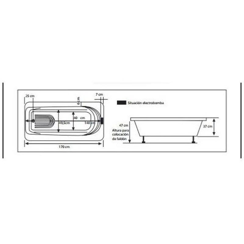 Modelo Capricho 160 x 0,75: Nuestros productos de Aqua Sistemas de Hidromasaje