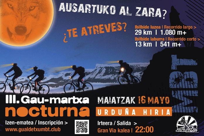 """ORDUÑA III Gau-martxa """"Urduña Hiria"""" Marcha nocturna - 16 MAYO"""