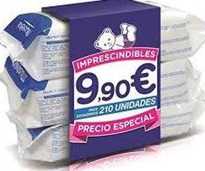 Mustela® toallitas dermo-suavizantes aloe 3x70uds: Productos de Parafarmacia Centro