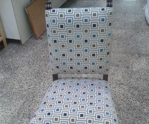 silla antigua con tela actual