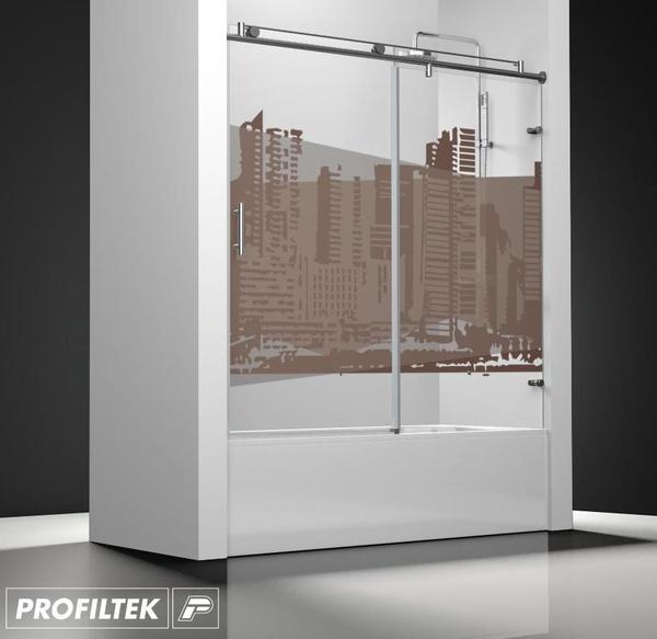 Mampara de baño Profiltek serie Steel mod. ST-110 classic decoración cosmopolita