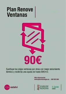 Nuevo Plan Renove de Ventanas Comunidad Valenciana 2019