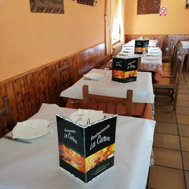 Salón para grupos: Carta de Restaurante La Curva