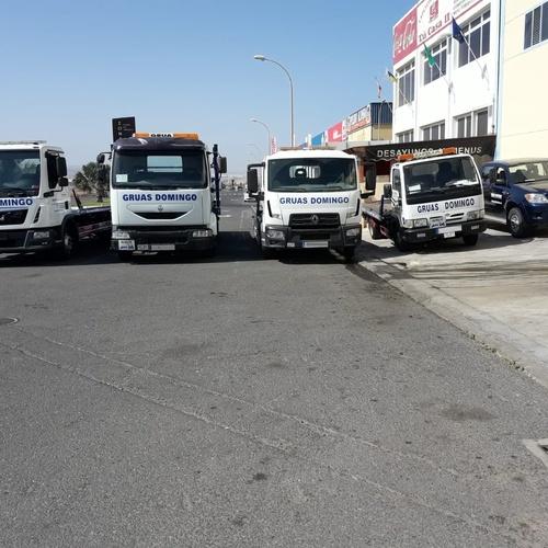 Flota de vehículos Grúas Domingo en Fuerteventura