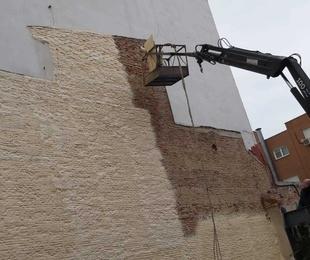 Protección de fachadas medianeras