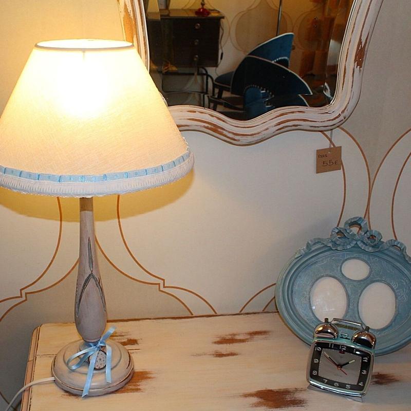 Lámpara de mesa Shabby Chic: Artículos  de Ruzafa Vintage