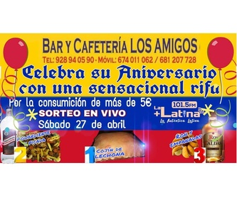 Platos combinados: Carta de Bar Cafetería Los Amigos