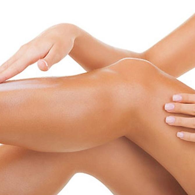 Utiliza cremas hidratantes después de una sesión de depilación láser
