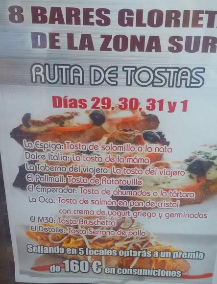 RUTA DE TOSTAS EN LA ZONA SUR DE ÁVILA
