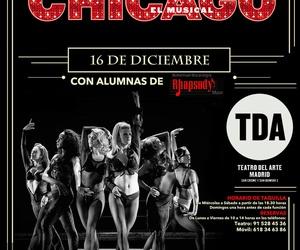 MUESTRA de CHICAGO El Musical 16 de Diciembre con alumnas de RHAPSODY en TEATRO DEL ARTE y GALA MUSI