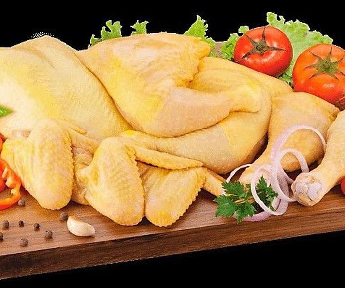Pollo de corral entero y deshuesado
