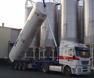 Cisterna pulverulentos descarga vertical