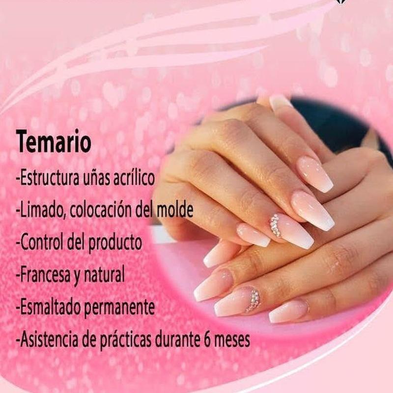 Curso intensivo construcción de uñas en acrílico y esmaltado permanente