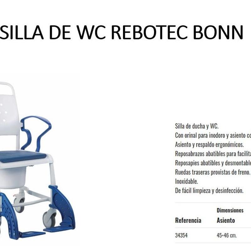 SILLA DE BAÑO BONN: Catálogo de Ortopedia Bentejui