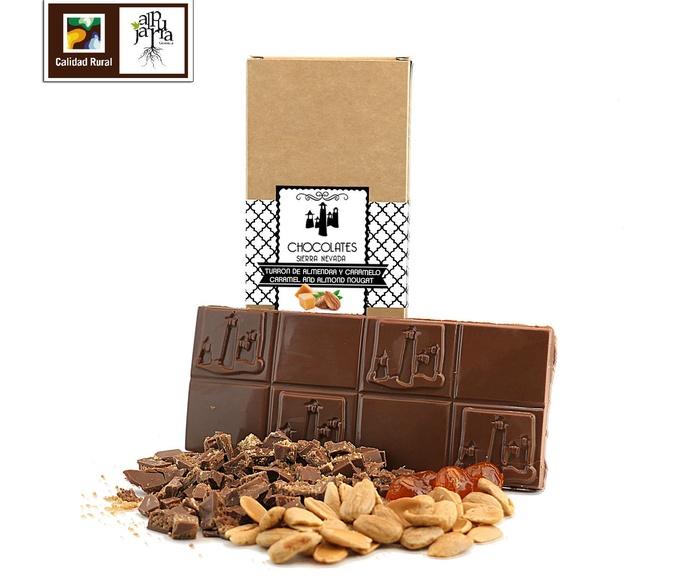 Turrón de almendra, caramelo y flor de sal: Nuestros productos de Chocolates Sierra Nevada
