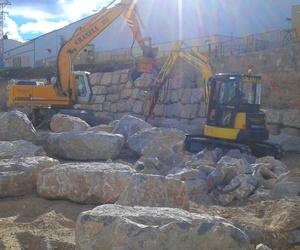 Construcción de muros de escollera