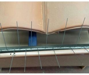 Instalación de canalón de aluminio