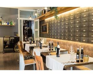 Interior del restaurante en Palencia