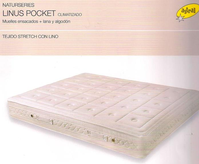 Colchon De Muellles Ensacados Astral Pocket Linus :  de Colchonería Moderna