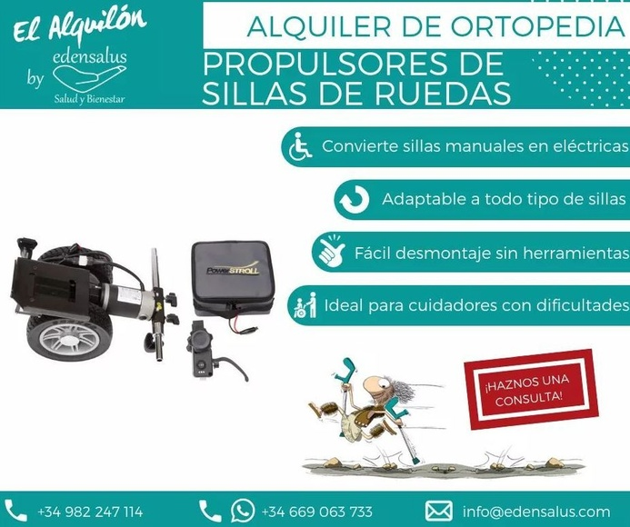 Alquiler propulsores para sillas de ruedas: Catálogo de Edensalus