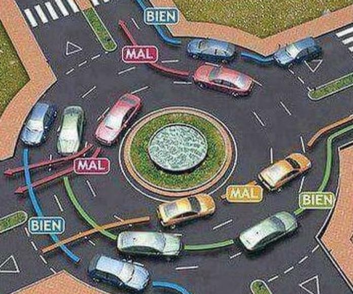 Foto ilustrativa de como debemos conducir en las rotondas