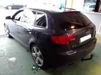 A3 Sportback. Tintado negro oscuro